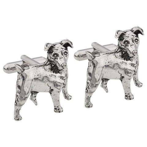 Jack Russell Terrier Dog Pewter Cufflinks