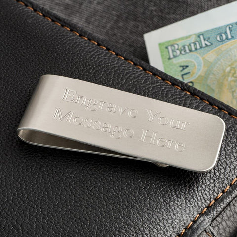 Engraved Plain Money Clip