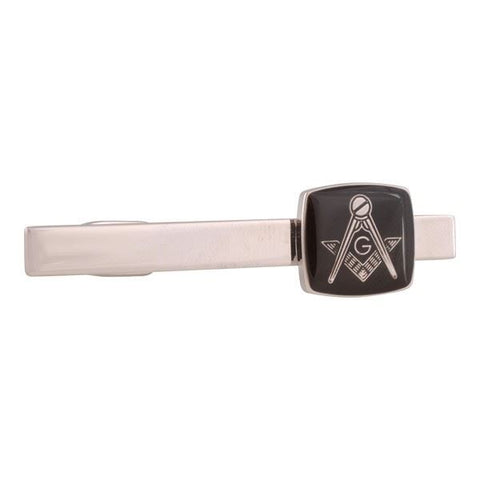 Black and Silver Masonic Tie Bar