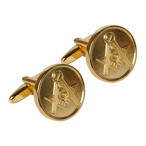 Gold Masonic Cufflinks