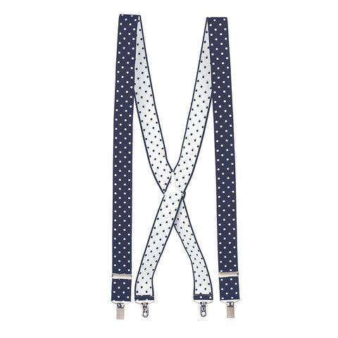 Navy Polka Dot Braces