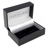 Silver Rectangle Initial Cufflinks