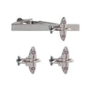 Spitfire Cufflinks and Tie Bar Set