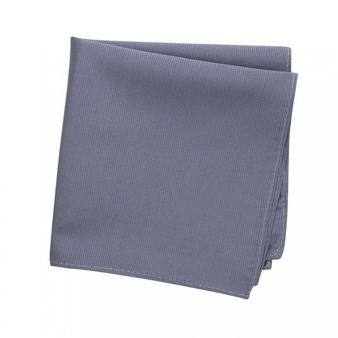 Plain Slate Grey Woven Silk Handkerchief