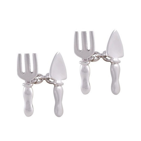 Sterling Silver Fork and Trowel Cufflinks