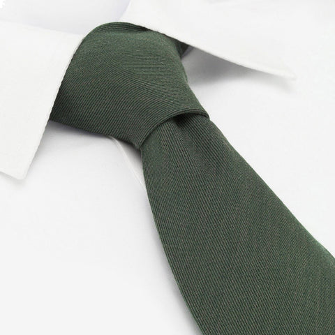 Plain Country Green Wool Mix Tie