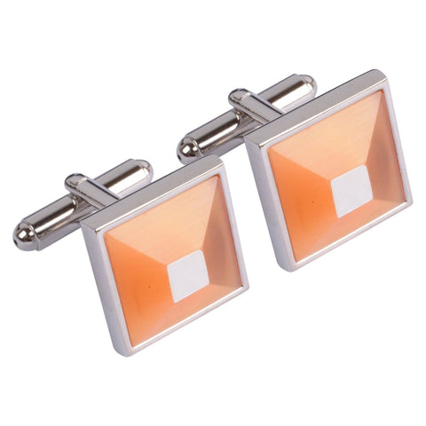 Orange Pyramid Cufflinks
