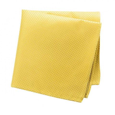 Gold Micro Square Woven Silk Handkerchief