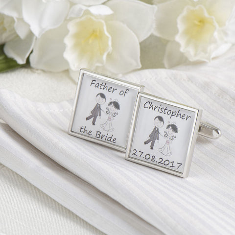 Personalised Wedding Role Cufflinks