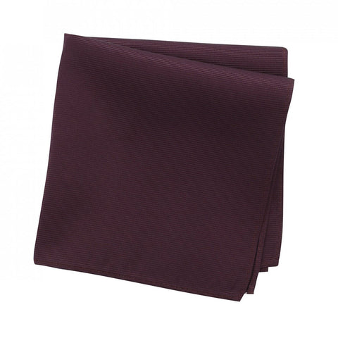 Plain Wine Woven Silk Handkerchief