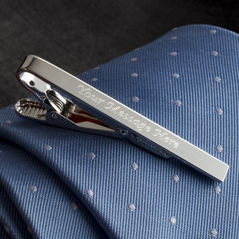 Plain Tie Bar Engraved