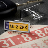 Personalised Number Plate Cufflinks