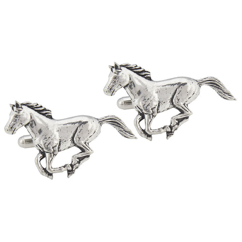 Pewter Galloping Horse Cufflinks