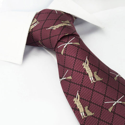 Wine Coloured Shooting Silk Tie