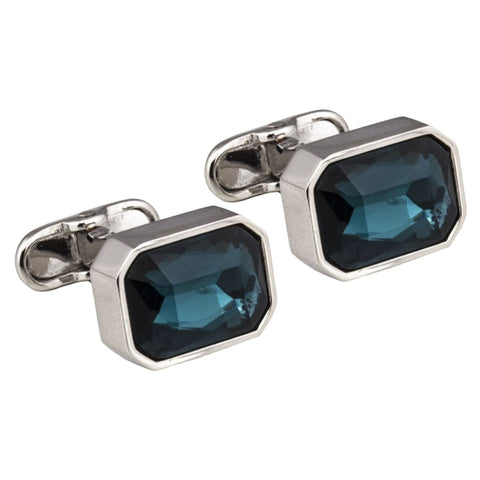 Teal Crystal Cufflinks
