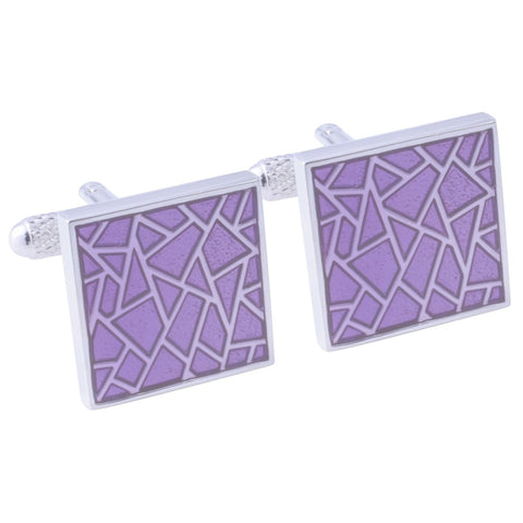 Cracked Purple Cufflinks