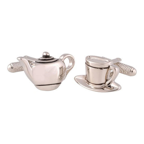 Teapot and Cup Cufflinks