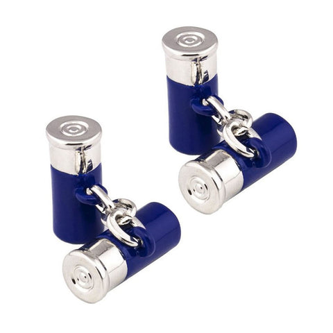 Blue Shotgun Cartridge Cufflinks