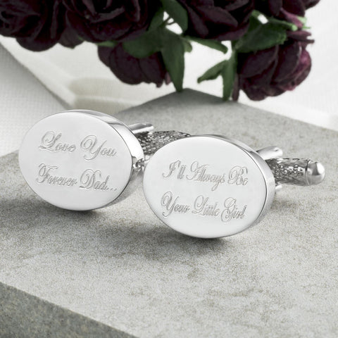 Daddy's Little Girl Engraved Cufflinks