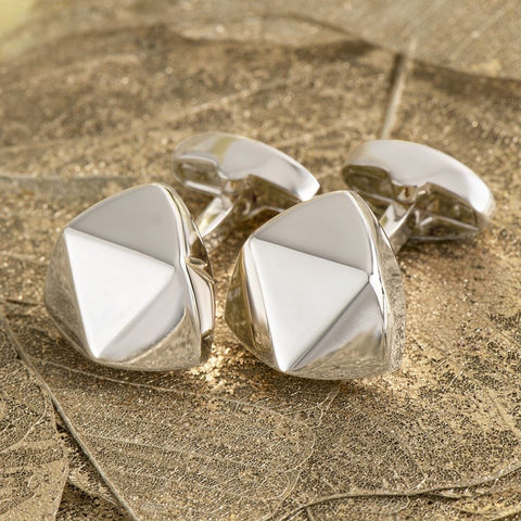 Four Facet Silver Cufflinks