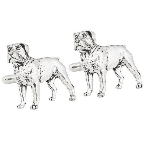 Rottweiler Dog Pewter Cufflinks