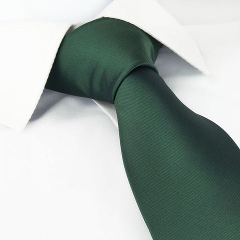 Plain Dark Green Tie