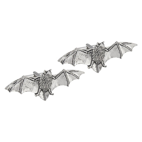 Pewter Bat Cufflinks