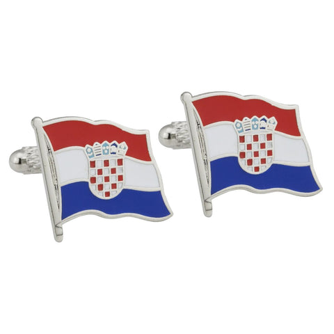 Croatian Flag Cufflinks