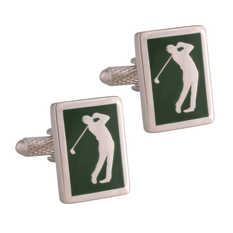 Green Golfer Cufflinks