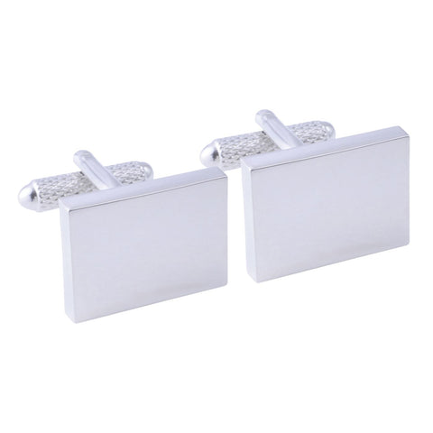 Silver Plated Rectangle Cufflinks