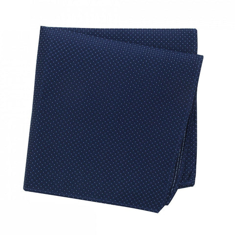 Blue Micro Square Woven Silk Handkerchief