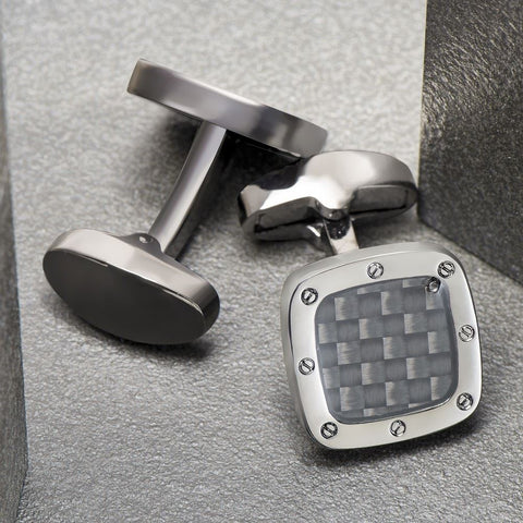 Black Carbon Fiber Cufflinks