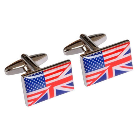 Union Jack & Stars and Stripes Cufflinks