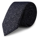 Navy Textured Fleck Slim Tie