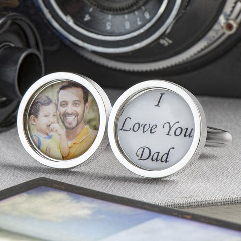 Personalised I Love You Dad Cufflinks