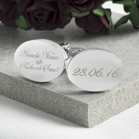 Names & Date Personalised Cufflinks