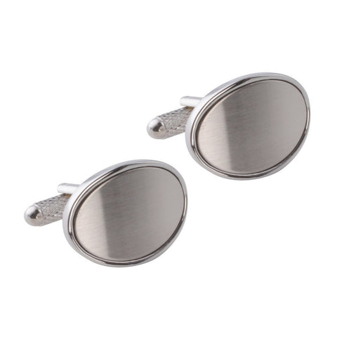 Oval Brushed Arched Cufflinks