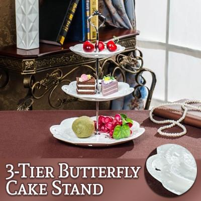 3-Tier Butterfly Cake Stand