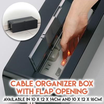 Cable Organizer Box with Flap Opening