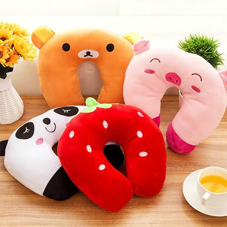 Cute Characters Neck Comfort Cushion