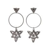 Hopes Up Earrings (White Gold)
