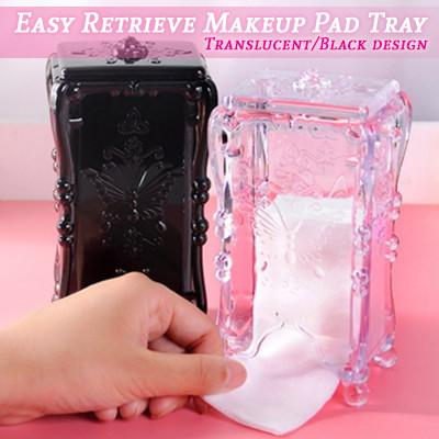 Easy Retrieve Makeup Pad Tray (Transparent)