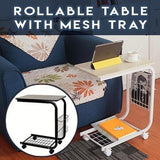 Rollable Table with Mesh Tray