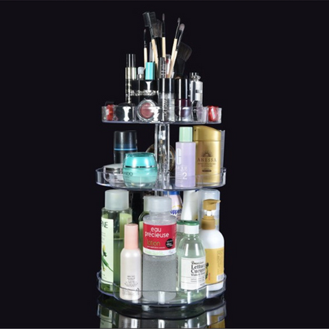 Rotating Transparent Cosmetic Organizer