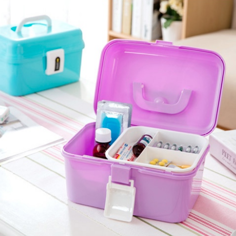Multi-Purpose Medicine Box with Handle