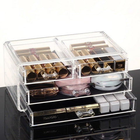 4 Drawers See-Through Acrylic Cosmetic Drawer Organizer