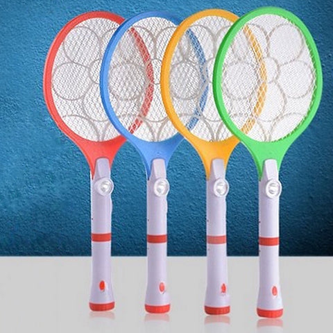 Floral Design Mosquito Racket
