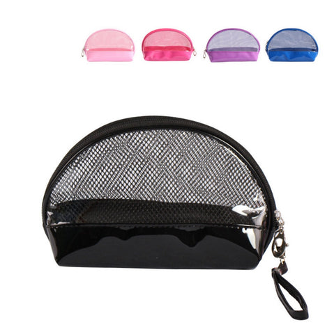 See-Through Round Cosmetic Pouch