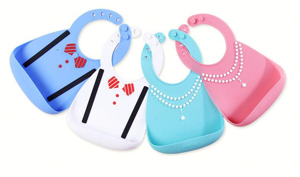 Silicone Baby Bib with Waterproof Pocket (Royalty)