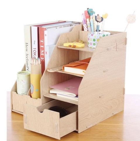 Wooden Stationery Organizer